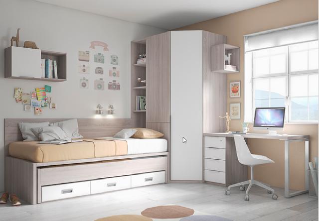 Habitaciones infantiles y juveniles blanco mobles - Habitaciones infantiles en blanco ...