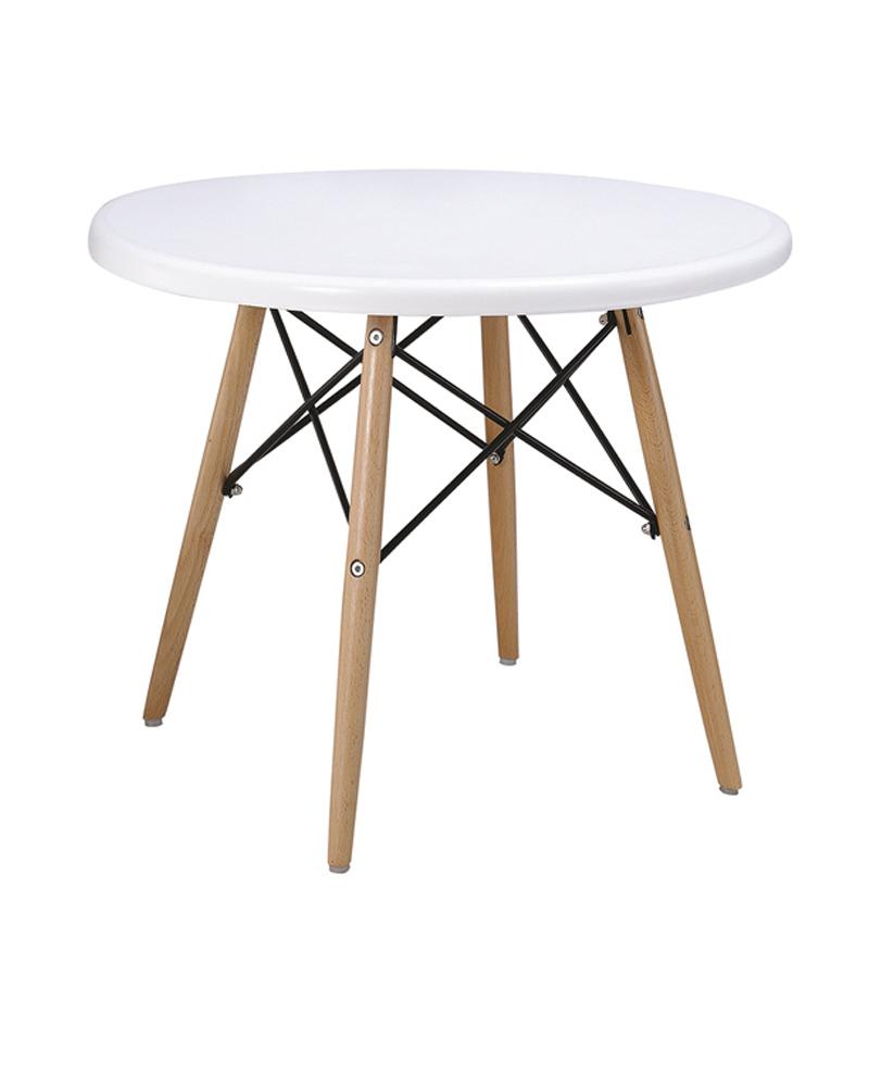 Mesa infantil de madera lacada blanco mobles - Mesas infantiles madera ...