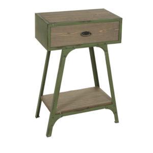 Consola 1 cajón madera metal