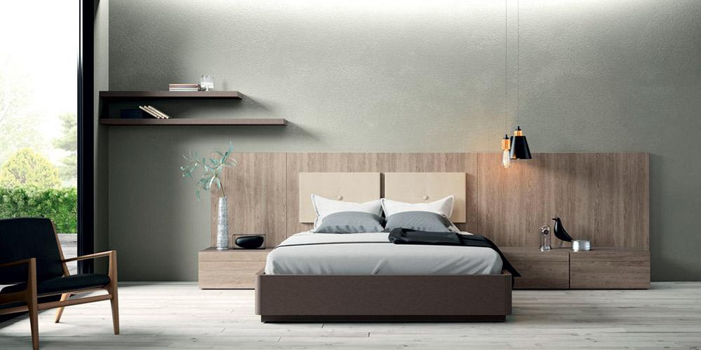 dormitorio matrimonio cabecero liso