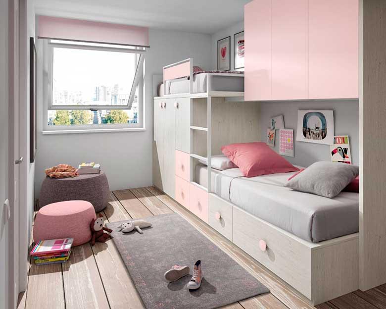 Habitaciones juveniles e infantiles para so ar blanco mobles - Habitaciones juveniles tren ...